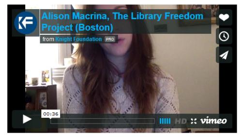 Alison Macrina Video