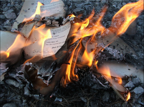 Banned Book - Burning Books